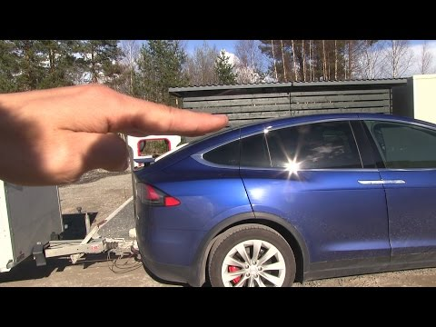 Model X with trailer: Can the efficiency be improved?