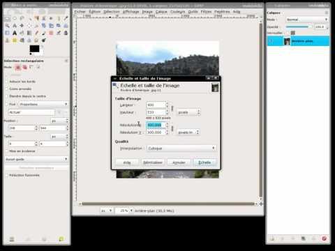 Changer la dimension d'une image vers un format imposé avec Gimp