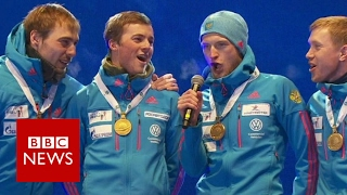 Wrong Russian anthem played for gold medallists - BBC News