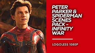 Download All Spiderman / Peter Parker Scenes Pack | Avengers: Infinity War Logoless 1080p HD Video
