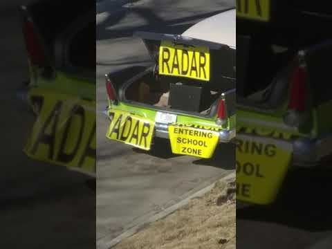 Crazy Guy Pointing Out An EPS (Edmonton Police Service) Photo Radar Truck