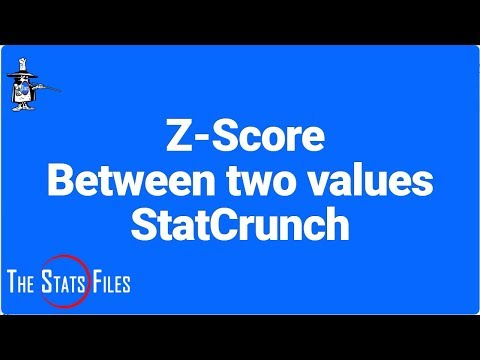 StatCrunch: find Z scores given an area or probability between two data points