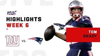 Tom Brady is the GOAT w/ 2 Rushing TDs & 334 Yards | NFL 2019 Highlights