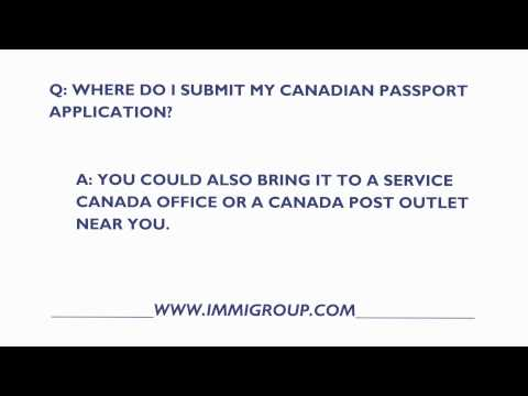 Where Do I Send My Canadian Passport Application?