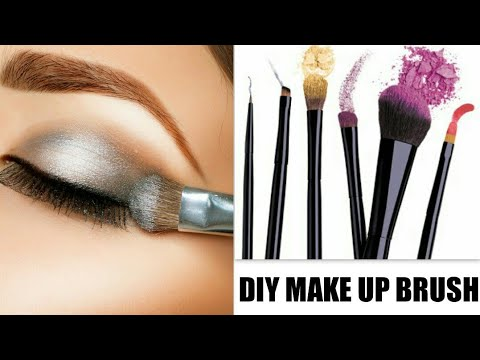 DIY MAKEUP BRUSHES- HOW TO MAKE MAKEUP BRUSHES AT HOME| घर पर बनाएँ मेकअप ब्रश| sonii world