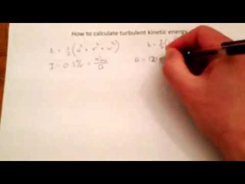 How to calculate turbulent kinetic energy k