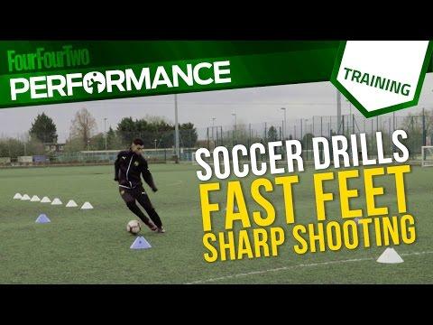 Soccer shooting drill   Fast feet, sharp shooting