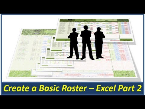 Excel Roster - Create a Basic Roster in Microsoft Excel - Part 2