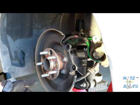 2010-2015 Toyota Prius Rear brake pads and rotors remove and install