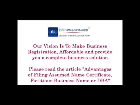 Advantages of Filing Assumed Name Certificate, Fictitious Business Name or DBA