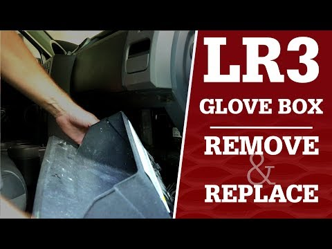LR3 Glove Box Removal without Land Rover Special Tool