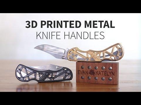 3D Printing Steel Knife Handles for Alec Steele