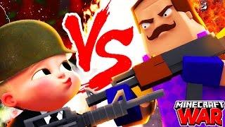 Minecraft Challenge - BOSS BABY VS HELLO NEIGHBOUR!
