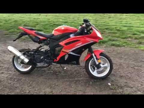 VENOM X18 50CC STREET LEGAL MOTORCYCLE MOPED SUPER POCKET BIKE - WALK AROUND