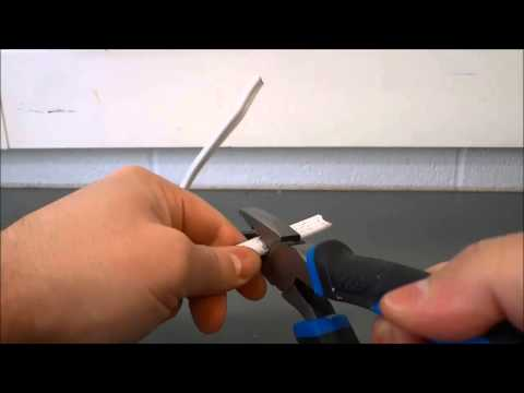 How To Strip Wires Without Wire Strippers-Using Pliers Instead