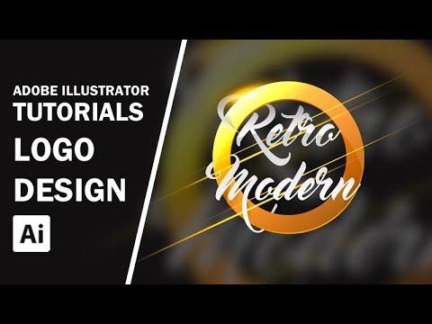 Adobe Illustrator   Retro Modern Logo Design #FreeDownload
