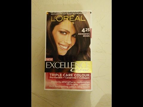 L'oreal Paris Excellence Cream Hair Colour No. 425 Aishwarya's Brown: Step By Step Method
