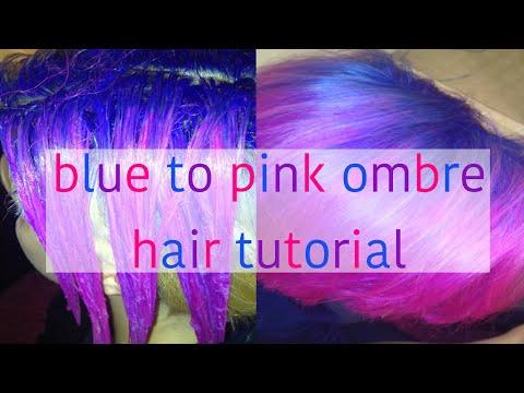 Blue to pink ombré//pixie cut (manic panic)hair tutorial!
