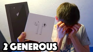 BUYING MY FRIEND A NEW iPHONE (EMOTIONAL)