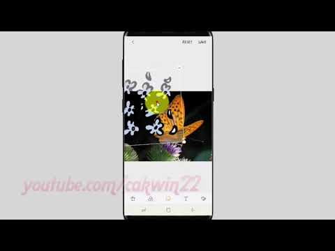 Samsung Galaxy S9 : How to add stickers on picture with gallery app