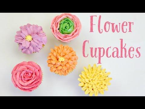 Swiss Meringue Buttercream Flower Cupcakes - CAKE STYLE