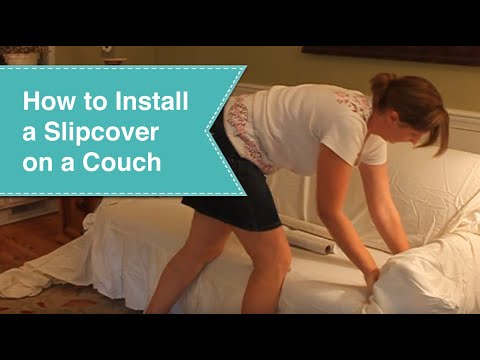 Installing Slipcover on couch