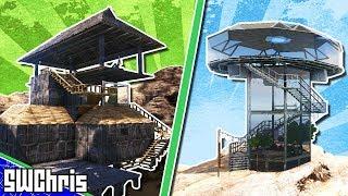 AWESOME UFO House Cliff Platform Tutorial - No Mods - How to