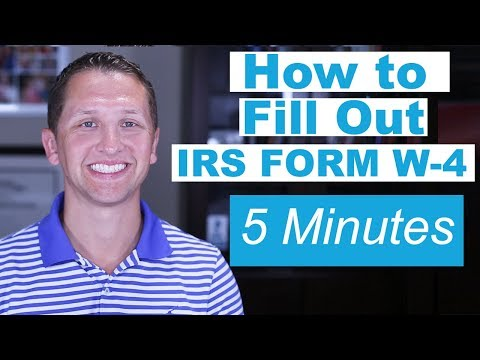 How to Fill Out IRS Form W-4 Fast