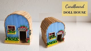 Download #Dollhouse #Cardboard #Handcraft Easy Miniature Doll House Using Cardboard   Aloha Crafts Video