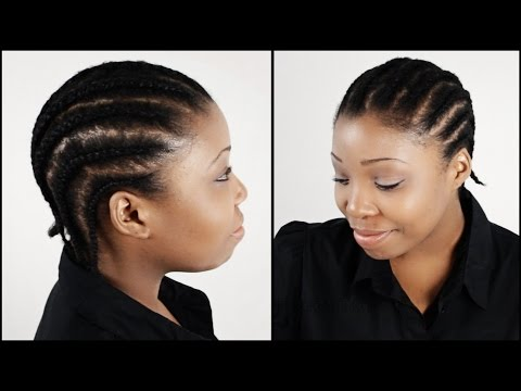 Cornrow Braids On Natural Hair START TO FINISH In 3 Minutes!!!