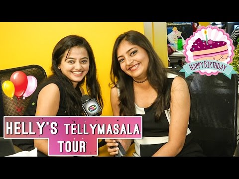 Helly Shah BIRTHDAY SPECIAL   Guest Editor At Telly Masala Office   Exclusive