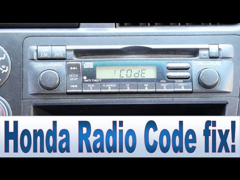 Honda Civic Accord CR-V Pilot Radio Code and Serial Number Repair
