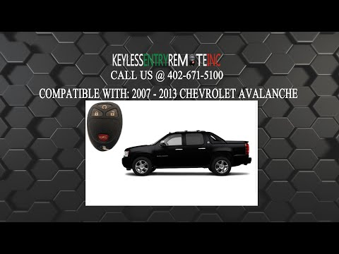 How To Replace Chevrolet Avalanche Key Fob Battery 2007 2008 2009 2010 2011 2012 2013