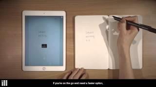Moleskine Smart Writing Set tutorial