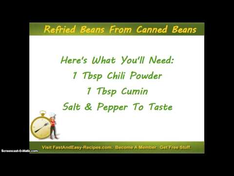 Refried Beans Using Canned Kidney Beans
