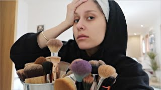 BRUSH CLEANING DAY & SUSHI MUKBANG!?