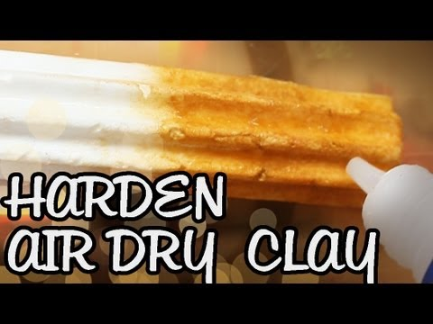 Instantly Harden Air Dry Clay