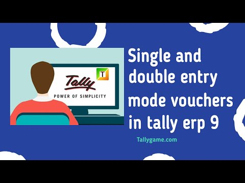 Single and double entry voucher in tally, tally erp9