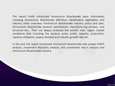 Global Ammonium Bicarbonate Industry 2016-2020 Market Research Report