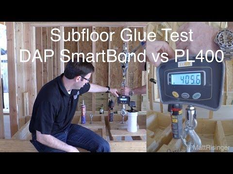 SubFloor Adhesive Test - SmartBond vs PL400