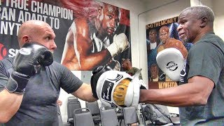 Download What's it like to train with Floyd Mayweather Sr.? Check out this full training session! Video