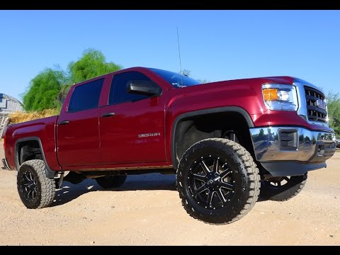 2014 GMC SIERRA CREW CAB 4X4 BEFORE AND AFTER LIFTED TRUCK!