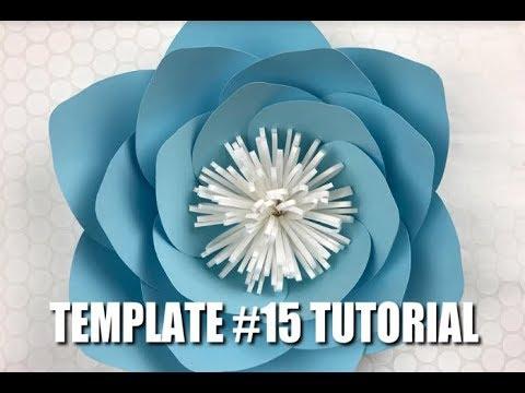 Paper Flower Tutorial using Template 15