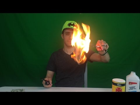 Burning Money 100 Dollar Bills Experiment ~ Incredible Science