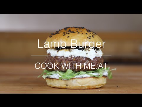 Lamb Burger - Grilled Lamb Burger Recipe - COOK WITH ME.AT