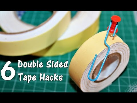 6 Awesome Double Sided Tape Life Hacks
