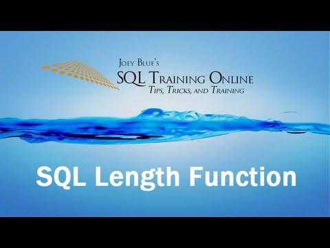 Sql Training Online - Sql Length Function
