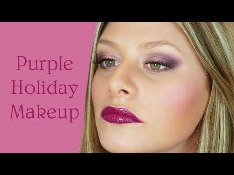 Purple Holiday Makeup!