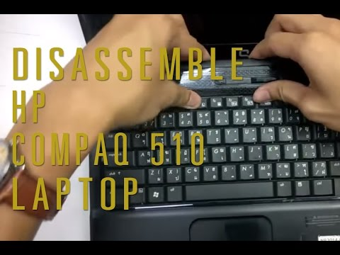 How to take apart/disassemble HP Compaq 510 laptop