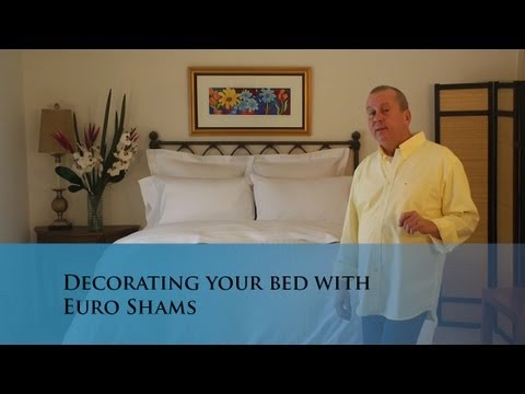 Making your bed with Euro Shams (www.verolinens.com)